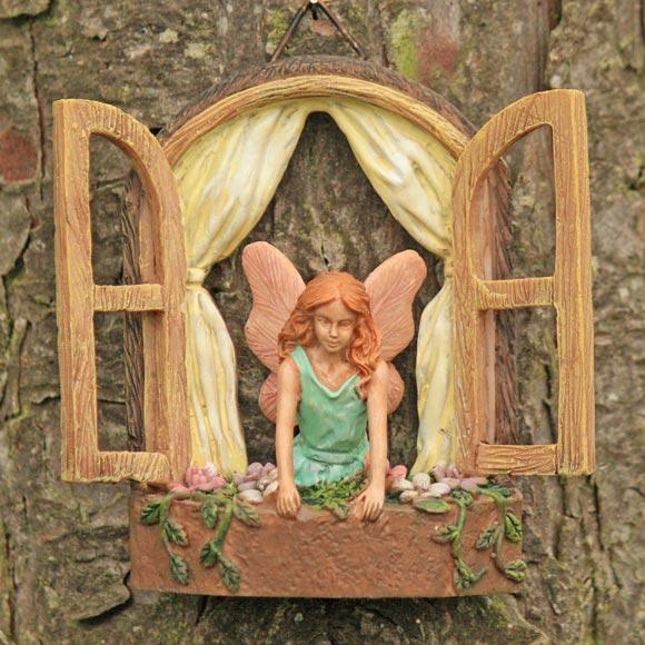 Fairy window with fairy fairy garden accessory for Fairy doors for sale