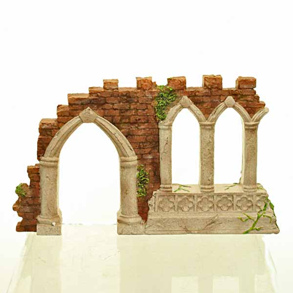 Gothic Garden Folly Archway and Crumbling Wall Fairy