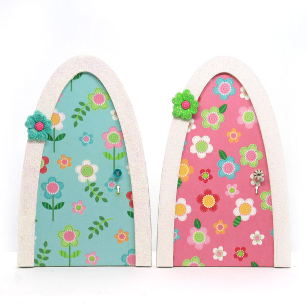 Pink and Blue Daisy Door