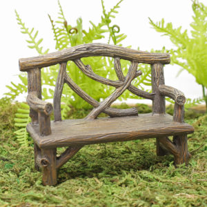 Wood Effect Garden Bench