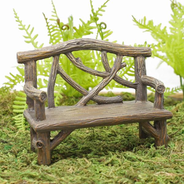 Wood Effect Garden Bench