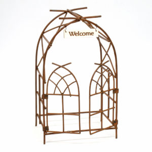 Metal Archway with Welcome Sign