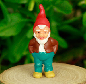 Tiny Gnome or Elf Figure, Fairy Garden Accessory by Jennifer