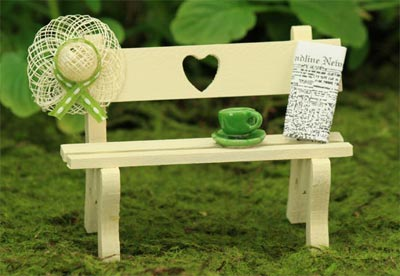 Sweetheart Garden Bench Collection, Fairy Garden Accessory