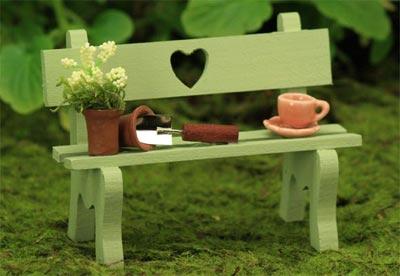 Sweetheart Bench Gardening Collection, Fairy Garden Accessory