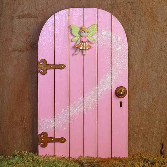 Fairy Door with Fairy and Fairy Dust, Handmade by Jennifer