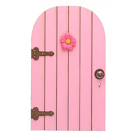 Flower fairy doors fairy garden accessory handmade by for Fairy door with key