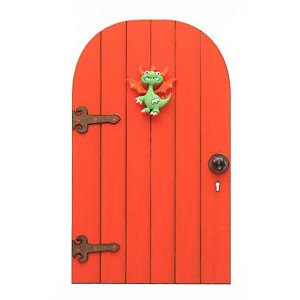 Baby Dragon Fairy Door - Fairy Garden Accessory - Handmade by Jennifer