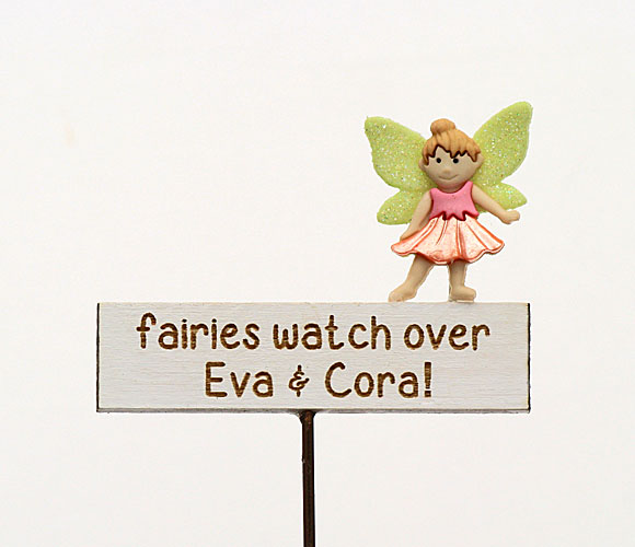 """Fairies watch over ….."" Personalised Sign"
