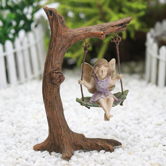 Tree Swing & Fairy, Fairy Garden Accessory