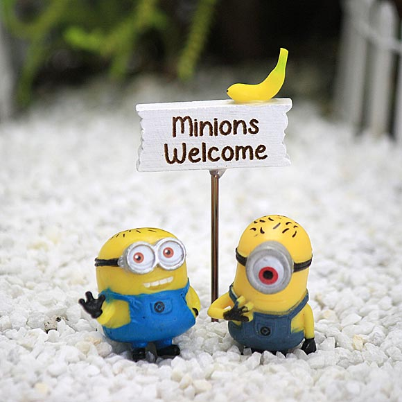 Mini Minions Collection, Fairy Garden Accessory by Jennifer