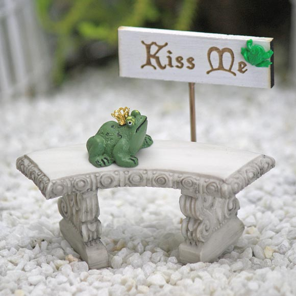 The Frog Prince & 'Kiss Me' Sign