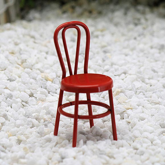 Red Chair - Fairy Garden Accessory