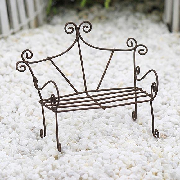 Wire Garden Bench, Fairy Garden Bench, Fairy Garden Accessory