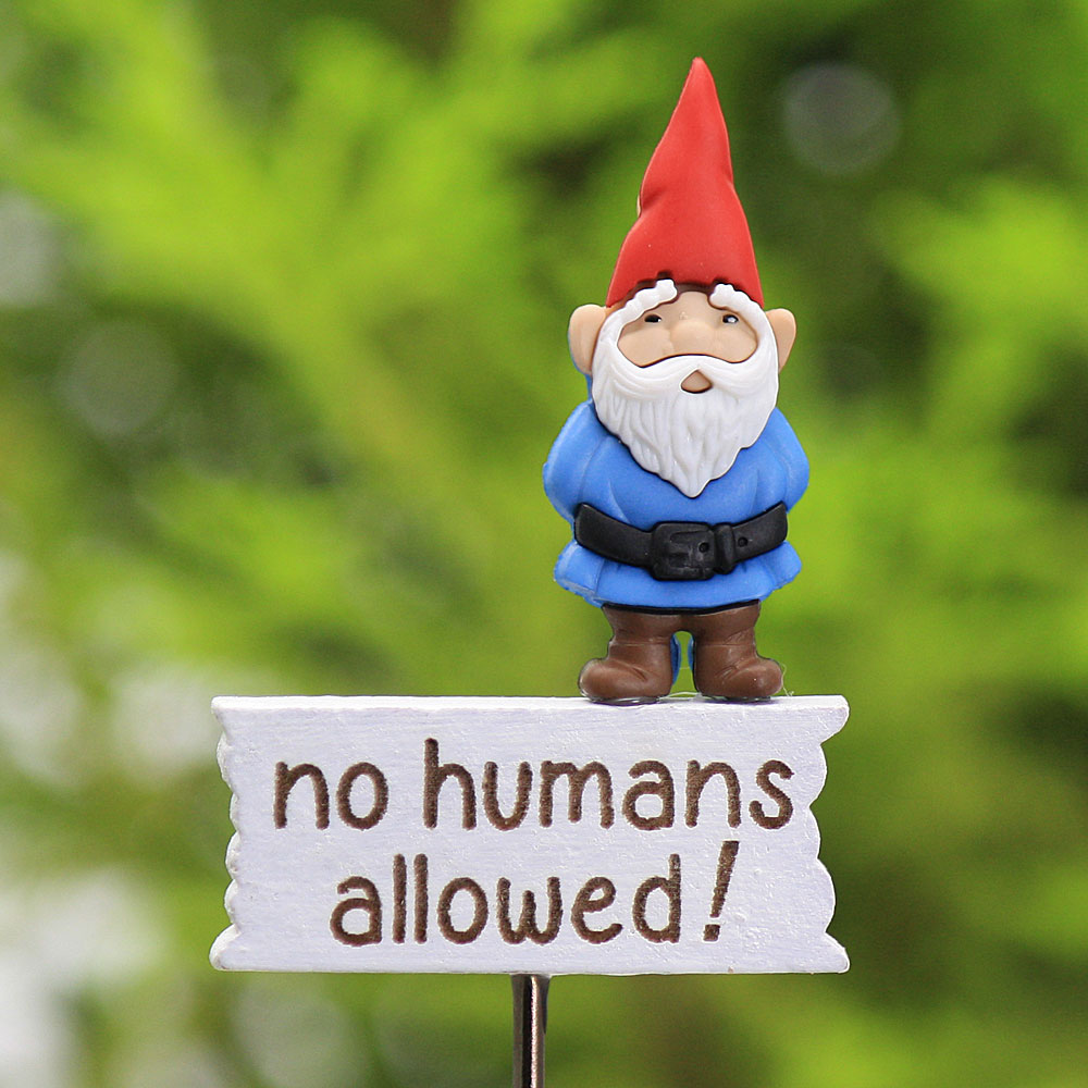 """No Humans allowed!"" Sign, Fairy Garden Sign by Jennifer"