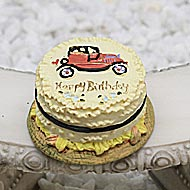 Birthday Cake - Car, Fairy Garden Accessory by Jennifer