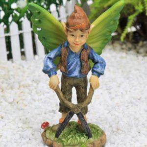 Gardening Elf Figure, Fairy Garden Accessory by Jennifer