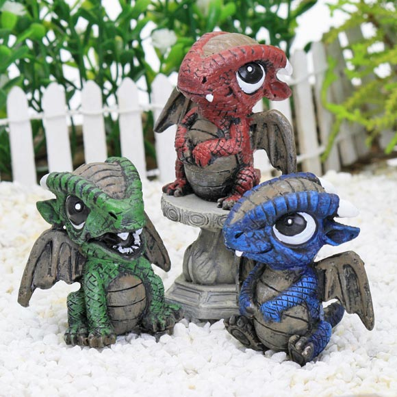 Baby Dragons, Fairy Garden Accessory by Jennifer