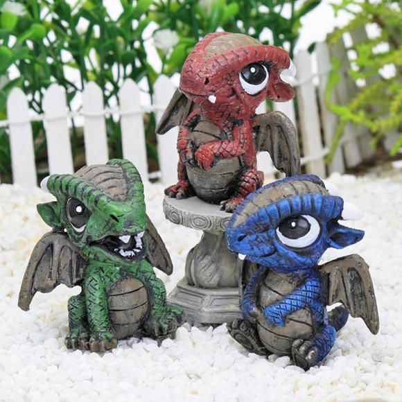 Baby Dragons, Fairy Garden Accessory by Jennifer