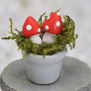 Miniature Mushroom Pot - Red