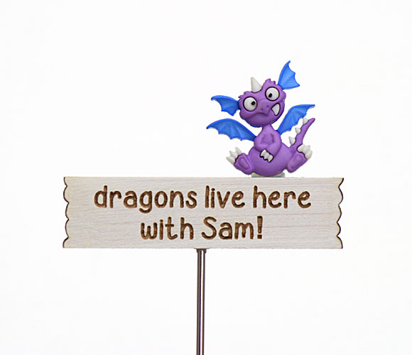 Dragons live here with ...., personalised sign
