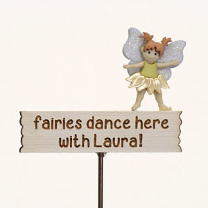 Fairies dance here with...personalised Sign