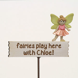Fairies play here with...personalised Sign