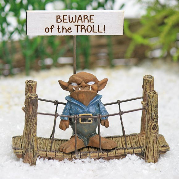 Troll & Rope Bridge Collection, Fairy Garden Accessory by Jennifer