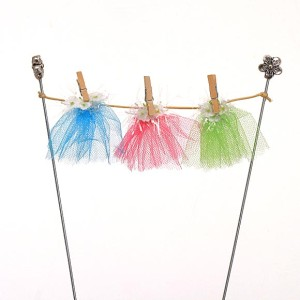 Fairy Clothes Line with Fairy Skirts - Handmade by Jennifer