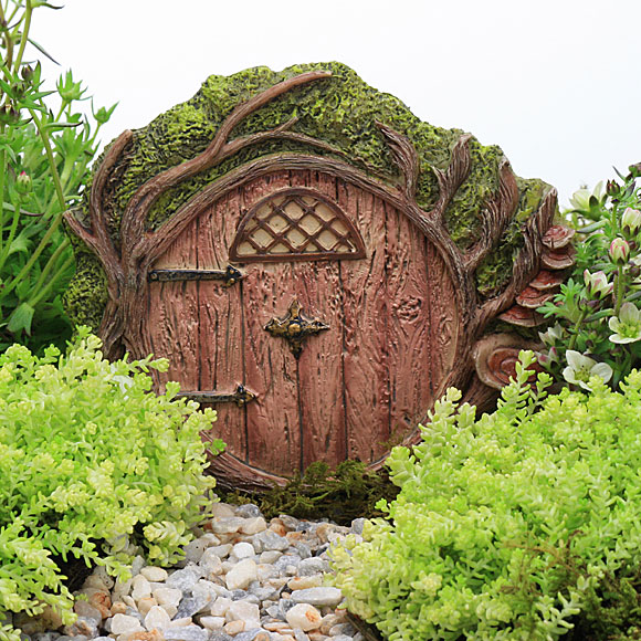 Hobbit door fairy garden miniature garden accessory for Miniature fairy garden doors