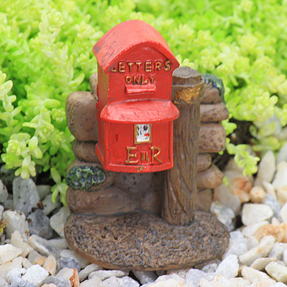 Red Letter Box - Traditional - English - Fairy Garden Accessory