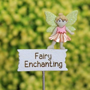 Fairy Enchanting Sign - Fairy Garden Accessory