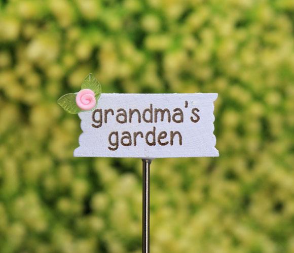 Grandma's Garden Sign - Fairy Garden Sign