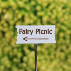 Fairy Picnic Sign, Fairy Garden Sign Handmade by Jennifer