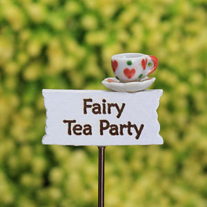 Fairy Tea Parts Sign, Fairy Garden Sign