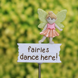 Fairies Dance Here Sign - Fairy Garden Sign Handmade by Jennifer