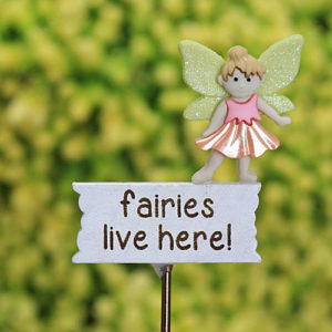 Fairies Live Here Sign/Red Mushroom