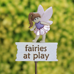Fairies at Play Miniature Garden Sign Handmade by Jennifer
