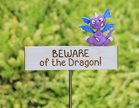 Beware of the Dragon Sign - Handmade by Jennifer