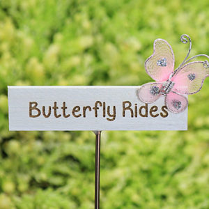 Butterfly Rides Sign