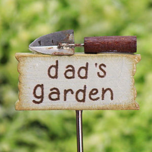 Dad's Garden Miniature Sign - Trowel