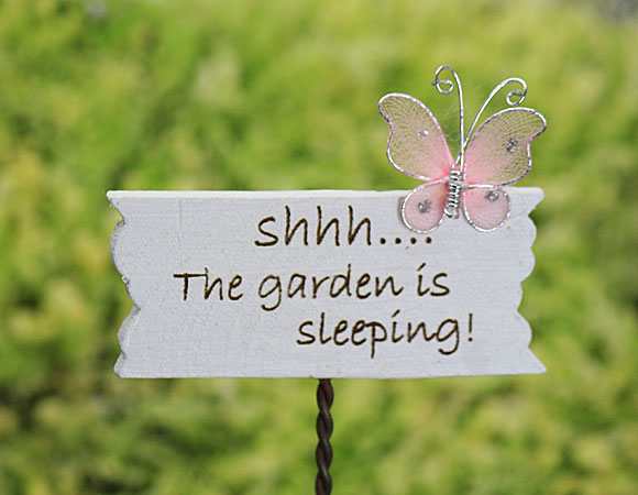 Shhh....The Garden is Sleeping! Sign - Large
