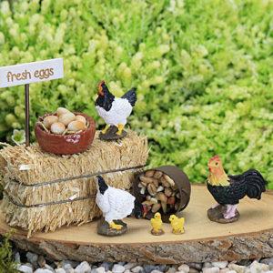 Chicken & Eggs Set - Handmade by Jennifer