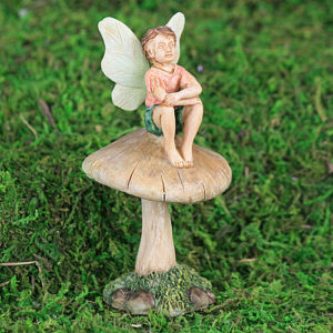 boy fairy on mushroom