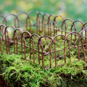 Rusty Linked Fence