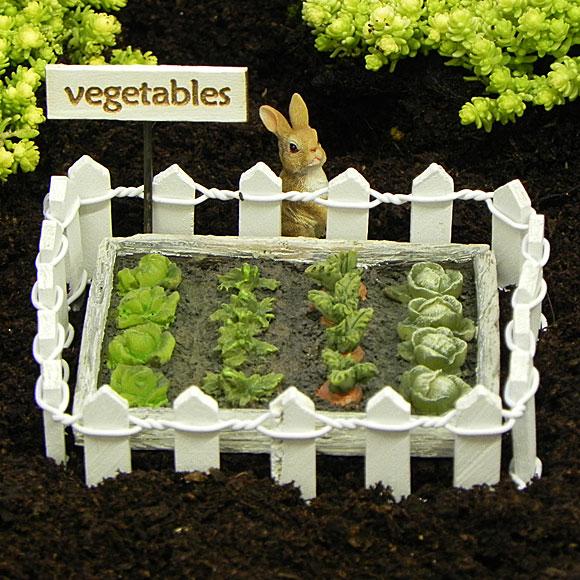 Vegetable patch collection garden fairy garden accessory for Garden vegetable patch