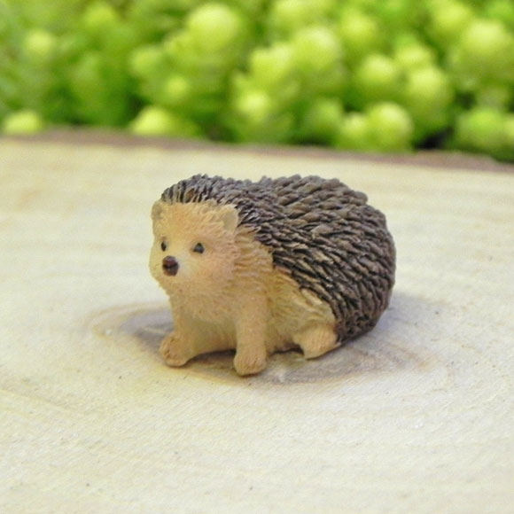 Sitting Hedgehog, Fairy Garden Miniature Accessory