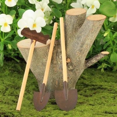 Rusty Garden Tools Set Of 3 Fairy Garden Accessory Garden Tools