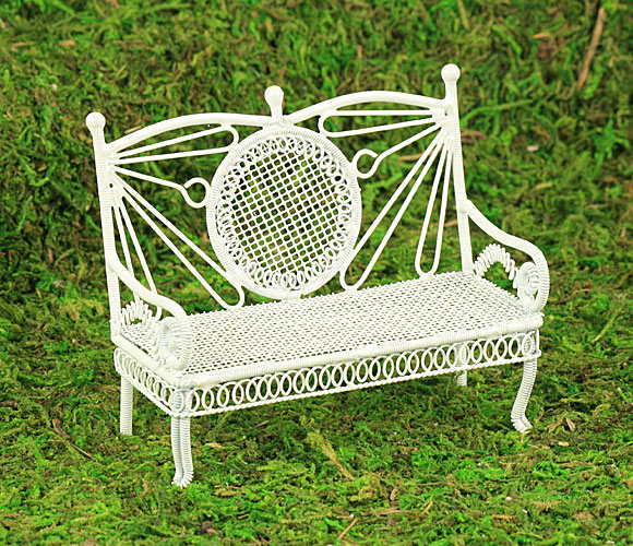 White Wire Bench