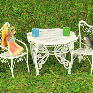 White Wire Garden Furniture